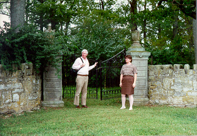 Iron gate entrance to Howard's Grove Cemetery. 